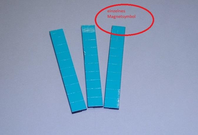 Magnetsymbol für Conen Zusatzpläne, 10x15mm, hellblau