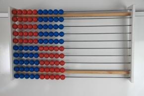 100er Lehrer-Rechenrahmen rot/blau je 5 in Blöcken