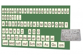 Lehrerkarten Deutsch, aus Kunststoff, magnethaftend