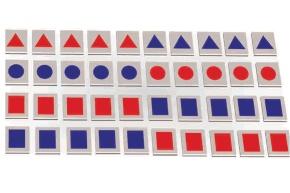 Elementesatz für Legekasten Mathematik, farbige Mengensymbole