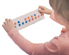 Schülerrechner 1-20, rot/weiß/blau, für den Zahlenraum bis 20