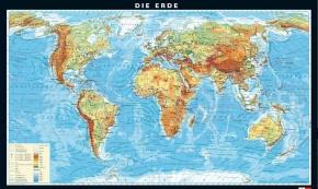 Wandkarte Die Erde, physisch