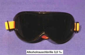 Alkoholrausch-Brille, 3,0 promille