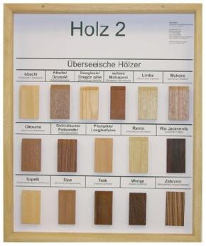Technologie Schaukasten Rohstoff: Holz II Überseeische Hölzer