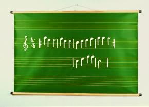 Musiknotentafel - aufrollbar, 2,5 cm Linienabstand