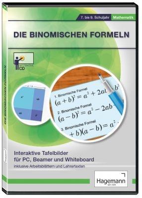 Interaktive Tafelbilder Binomische Formeln, Schullizenz