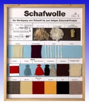 Technologie Schaukasten Fasern: Schafwolle