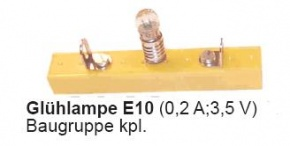 Glühlampe, Fassung E10, magnethaftende Baugruppe