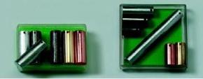 Metallzylinder, gleiches Volumen (6 Stück)