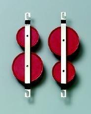 Flaschenzug, zweirollig, Rollen-Ø 43 und 58 mm
