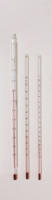 Thermometer, -50 bis + 50°C, rote Füllung