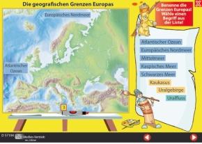 Interaktives Tafelbild: Die geografischen Grenzen Europas