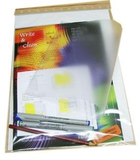 Überhangfolien, Schreibfolien, Set mit 3 Folien, 1 Bleistift, 2