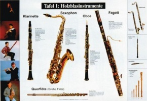 Lehrtafeln zur Instrumentenkunde, Holzblasinstrumente