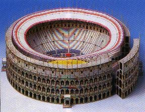 Kartonmodellbau, Kolosseum Rom