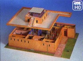 Kartonmodellbau, Ägyptisches Wohnhaus