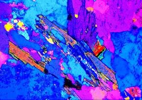 Gneis, Gesteinsdünnschliff Dauerpräparat