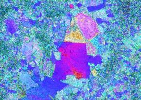 Marmor, Gesteinsdünnschliff Dauerpräparat