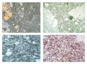 Gesteinsdünnschliffe Serie II, 10 Dauerpräparate