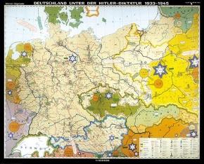 Wandkarte Deutschland unter der Hitlerdiktatur