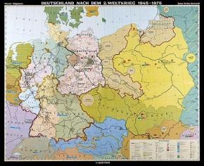Wandkarte Staatengeschichte Deutschlands
