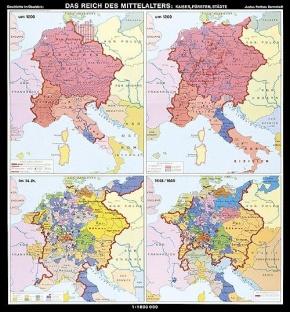 Wandkarte Das Reich des Mittelalters