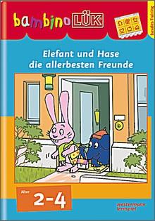 bambinoLük-Heft Elefant und Hase, die allerbesten Freunde