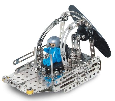 Metallbaukasten mit Solarzelle und Motor C74