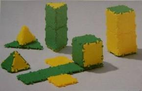Clixi Geometriekörper 3er Set,  klein