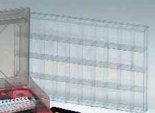 Sortierkasten, mit 40 Kleinfächern für Magnetsymbole