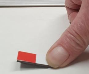 Magnetsymbol für Stundenplan, ganzflächig weiß