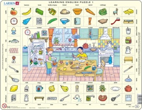 Puzzle - Learning English Puzzle 1, Format 36,5x28,5 cm, Teile 7