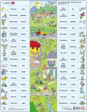 Puzzle - Learning English Puzzle 7, Format 36,5x28,5 cm, Teile 6
