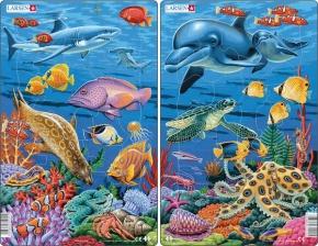 Puzzle - Korallenriff, Format 28,5x18,3 cm, Teile 25