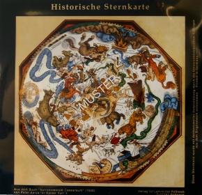 Historische Sternkarte, für Overheadprojektor
