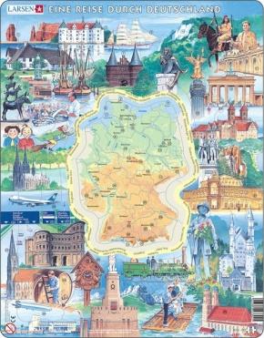 Puzzle - Reise durch Deutschland, Format 36,5x28,5 cm, Teile 80