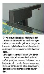 Kartenständer mit kippsicherem Fünffuß, mit OHP-Bügel