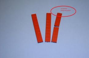Magnetsymbol für Zusatzplan, 10x15mm, rot