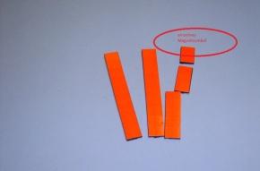 Magnetsymbol für Zusatzplan, 10x15mm, signalrot
