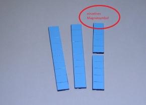 Magnetsymbol für Zusatzplan, 10x15mm, mittelblau