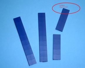 Magnetsymbol für Zusatzplan, 10x15mm, dunkelblau