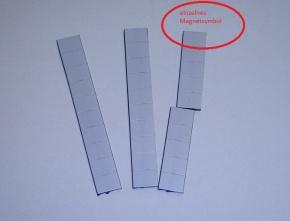Magnetsymbol für Zusatzplan, 10x15mm, grau