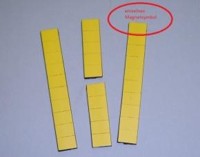 Magnetsymbol für Zusatzplan, 10x15mm, gelb