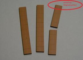 Magnetsymbol für Zusatzplan, 10x15mm, braun
