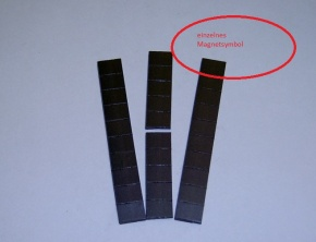 Magnetsymbol für Zusatzplan, 10x15mm, schwarz
