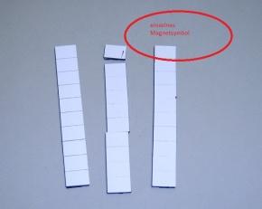 Magnetsymbol für Zusatzplan, 10x15mm, ganz weiß