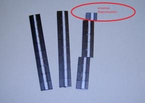 Magnetsymbol für Zusatzplan, 10x15mm, schwarz mit weißem Streifen