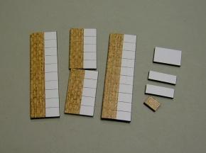Satz Kippmagnete für Stundenplan, halb beige meliert/ halb weiß