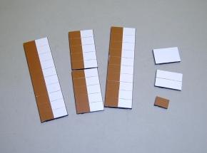 Satz Kippmagnete für Stundenplan, halb braun/ halb weiß