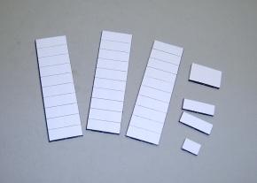 Magnetsymbol für den Stundenplan 10x30x3mm, 18 ganz weiß